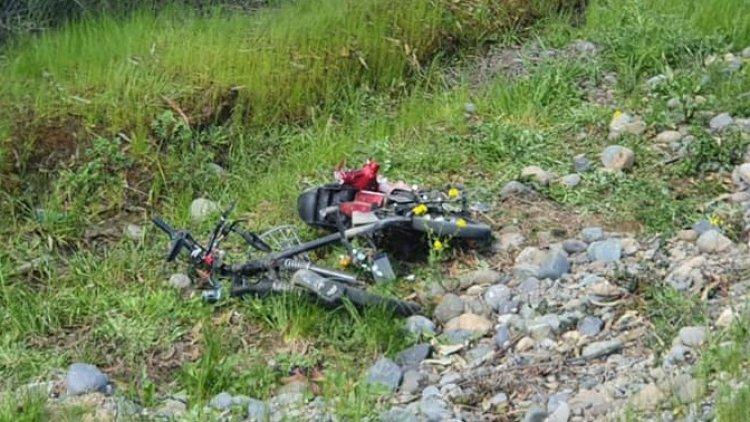 En estado grave sigue motorista accidentado en el camino Palmilla