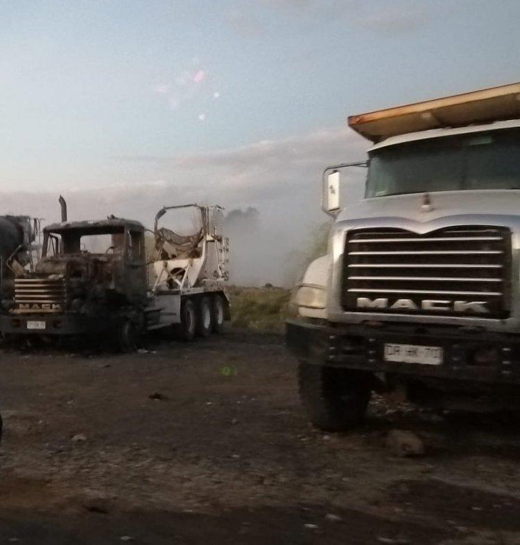 Áridos Bullileo rompe el silencio y habla de intencionalidad en quema de camiones y maquinaria