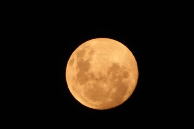 """La """"súper luna"""" registrada desde el Santuario de la Naturaleza Achibueno"""