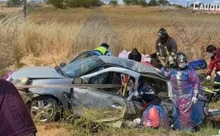 Un muerto y seis lesionados deja violento accidente en ruta Parral-Cauquenes