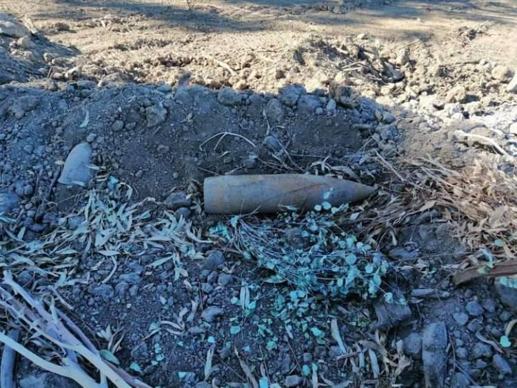 """Encuentran proyectil de guerra en cerro del sector """"El Emboque"""""""