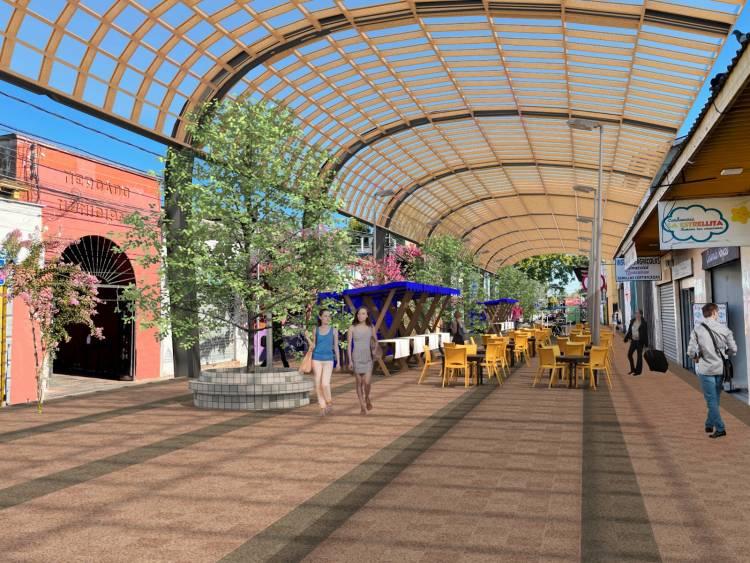Carlos Gajardo presenta plan de intervenciones urbanas: paseo peatonal en calle Benjamín Novoa, áreas verdes con conexión Wi Fi y recuperación del anfiteatro de la Alameda