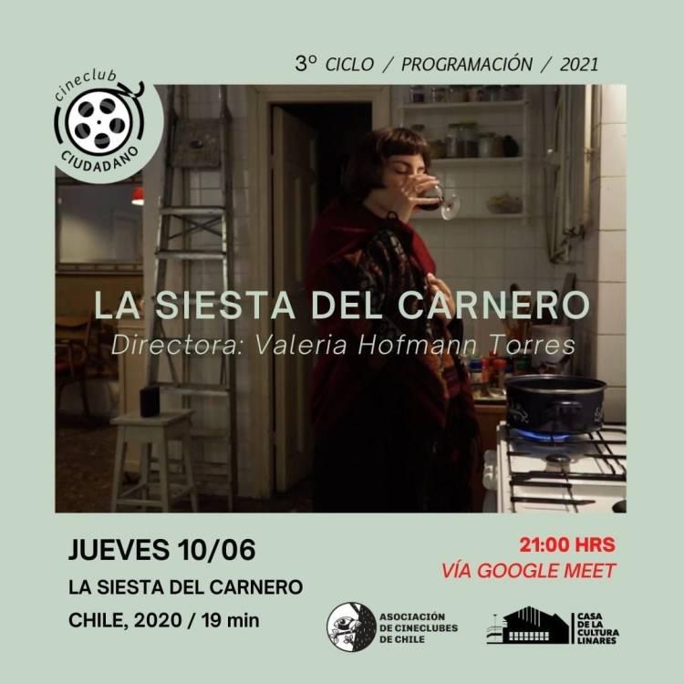 """Cine Club Ciudadano de Linares exhibe cortometraje """"La siesta del Carnero"""""""